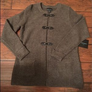 Beautiful Gray Cynthia Rowley Cardigan Sweater